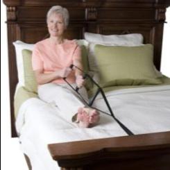 Apoyo ajustable con 3 pasamanos para sentarse en cama
