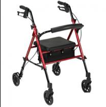 Andadera con asiento, bolsa y ruedas