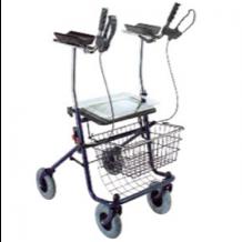 Andadera con asiento, descanzabrazos y ruedas
