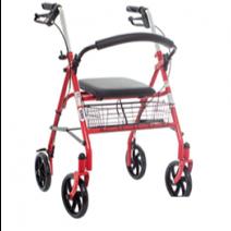 Anadera con asiento, ruedas y frenos