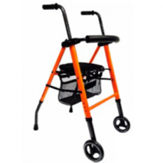 Andadera con 2 ruedas, asiento y bolsa