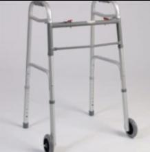 Andadera plegable con ruedas y altura ajustable