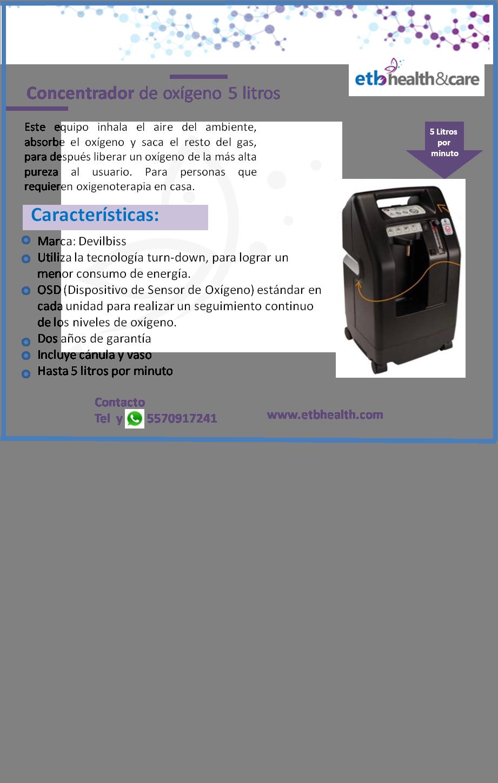 Concentrador de oxígeno 5 litros